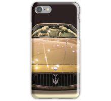 Maserati gold colour iPhone Case/Skin