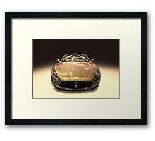 Maserati gold colour Framed Print