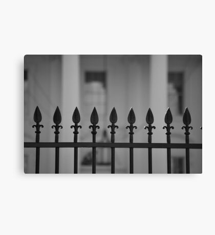 White House Fence Canvas Print