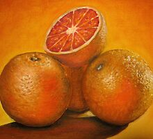 Oranges oil painting by Natalja Picugina