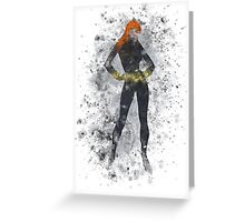 Black Widow Splatter Graphic Greeting Card
