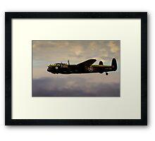 Avro Lancaster / Lancaster  Bomber Digital Painting - World War 2 Art - WWII - WW2 Art Military Framed Print