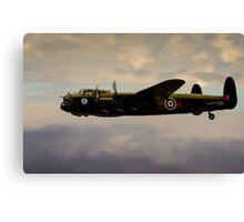 Avro Lancaster / Lancaster  Bomber Digital Painting - World War 2 Art - WWII - WW2 Art Military Canvas Print