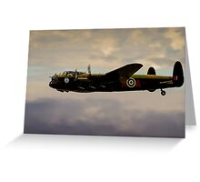 Avro Lancaster / Lancaster  Bomber Digital Painting - World War 2 Art - WWII - WW2 Art Military Greeting Card