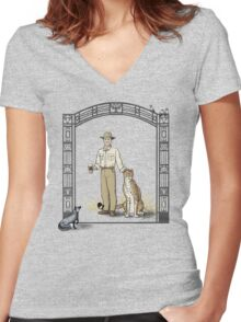 Zookeeper Lestrade Women's Fitted V-Neck T-Shirt