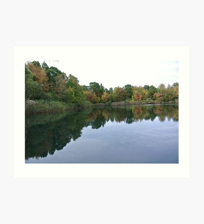 An Autumn Reflection Art Print