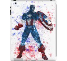 Captain America Splatter Graphic iPad Case/Skin