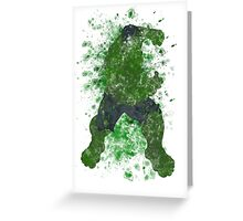 Hulk Splatter Graphic Greeting Card