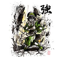 Toph from Avatar with sumi and watercolor Photographic Print