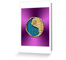 Cancer & Rooster Yin Fire Greeting Card