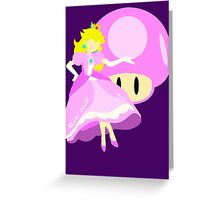 Super Smash Bros Peach Greeting Card