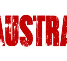 He calls it man vs wild In Australia we call it camping Sticker