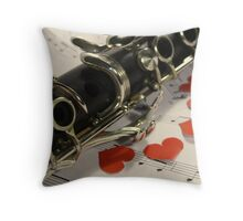 Clarinet Love Throw Pillow