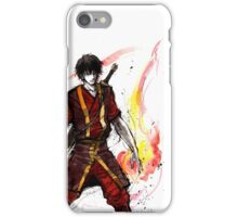 Zuko from Avatar with sumi ink and watercolor iPhone Case/Skin