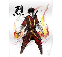Zuko from Avatar with sumi ink and watercolor Poster