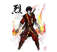 Zuko from Avatar with sumi ink and watercolor Photographic Print