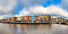 River Liffey Panorama - Dublin Ireland by Mark Tisdale