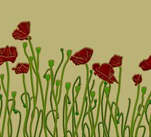 ANZAC Poppies by Kelsey Peet