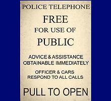 Police Box Sign by Amantine