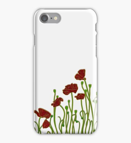 ANZAC Poppies iPhone Case/Skin