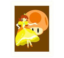 Super Smash Bros Peach (Daisy Alternative) Art Print