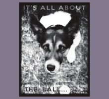 Terrier Obsession: It's All About The Ball - Black and White Remix Kids Clothes