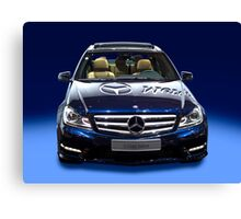 Mercedes C Class saloon blue metallic Canvas Print