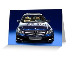 Mercedes C Class saloon blue metallic Greeting Card