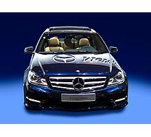 Mercedes C Class saloon blue metallic Photographic Print