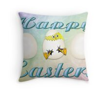Easter Eggs Card Throw Pillow