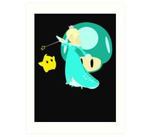 Super Smash Bros Rosalina & Luma  Art Print