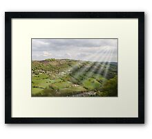 The Hills Have Beams. Framed Print