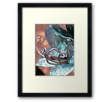 Patina Flower Framed Print