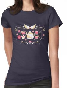 Fairy Tea Time Womens Fitted T-Shirt