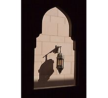 Shadows at the Grand Mosque Photographic Print