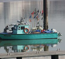Little Green Fishing Boat - Roayn by Pamela Jayne Smith