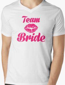 Team bride kiss Mens V-Neck T-Shirt
