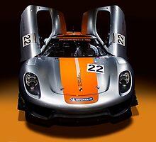 Porsche silver silver colour race car by Radoslav Nedelchev