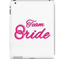 Team bride rings iPad Case/Skin