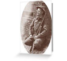 Sleep Well Soldier Greeting Card