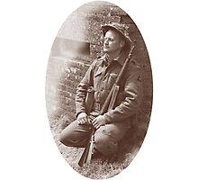 Sleep Well Soldier Photographic Print