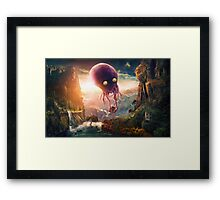 Octopus Riders Framed Print