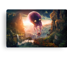 Octopus Riders Canvas Print