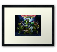 Teenage Mutant Ninja Pokemon Framed Print