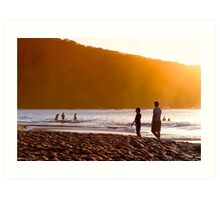 Stand By Me - Playa Hermosa - Costa Rica Art Print