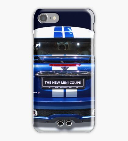 mini coupe blue colour iPhone Case/Skin