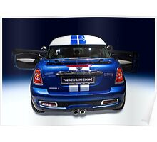 mini coupe blue colour Poster