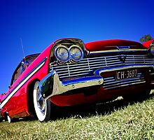 Retro red Plymouth by garyparkinson