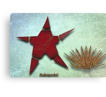 Starfish and Sea Urchan The Metal Aquarium Metal Print
