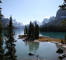 Spirit Island, Lake Maligne, Canada. by Shenelle